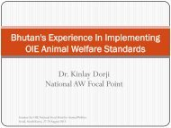 Bhutan's Experience In Implementing OIE Animal ... - OIE Asia-Pacific