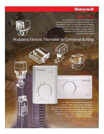 Honeywell Modulating Electronic Control Thermostats - Kele