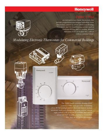 Honeywell Modulating Electronic Control Thermostats - Kele