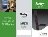 Sentry System - Patio Door Handles - Truth Hardware