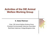 ANIMAL WELFARE: A Developing Country ... - OIE Asia-Pacific