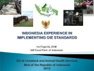 implementation of animal welfare. - OIE Asia-Pacific