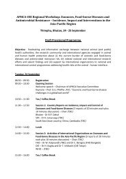 Programme - OIE Asia-Pacific