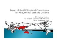 OIE Regional Seminar for Recently Appointed OIE ... - OIE Asia-Pacific