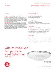 Data Sheet FX85001-0261 -- PL Series Heat Detectors