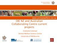 OIE NZ and Australian Collaborating Centre ... - OIE Asia-Pacific