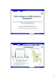 FAO's initiative on HPAI control in Bangladesh - OIE Asia-Pacific