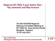 Activities of the OIE Regional Representation for Asia and the Pacific ...