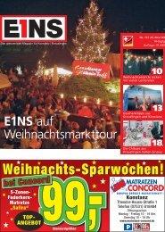 Weihnachts-Sparwochen! - E1NS-Magazin