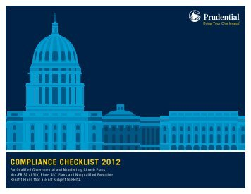 ComplianCe CheCklist 2012 - Prudential Retirement
