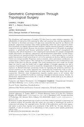Geometric Compression Through Topological Surgery - CiteSeerX