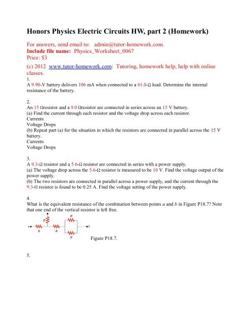 Webassign Physics Questions and Answers - Tutor-Homework com