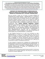 contrato de concesion para la prestacion del servicio publico de ...