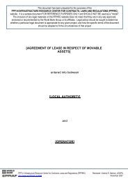 lease agreements for use of (i) moveable assets - SADC PPP Network
