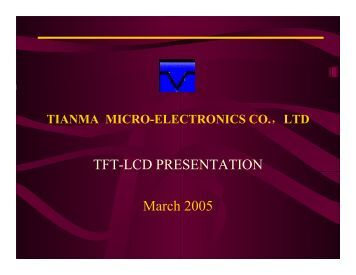 TFT-LCD PRESENTATION March 2005