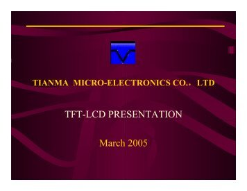 TFT-LCD PRESENTATION March 2005
