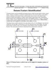 Datum Feature Identification - Technical Training Consultants