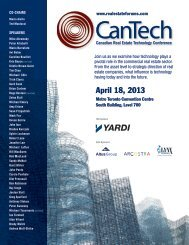 13-021 (CanTech Brochure)2.indd - Real Estate Forums