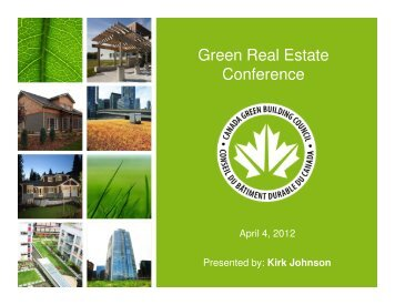 Green Real Estate Conference - Real Estate Forums