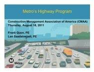 LACMTA Highway Presentation 8/18/11 - CMAA