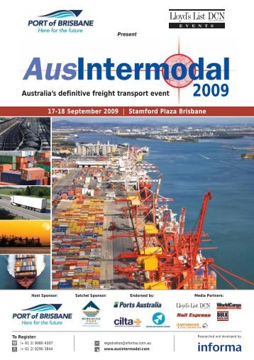 Australia's definitive freight transport event - Informa Australia