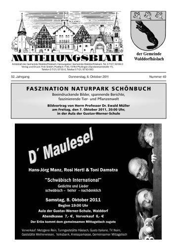 Telefax 0 7121/97 93 - Walddorfhäslach