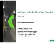 Montreal Industrial Leasing Overview - Real Estate Forums