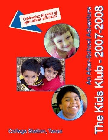07-08 Kids Klub Parent HB single - City of College Station
