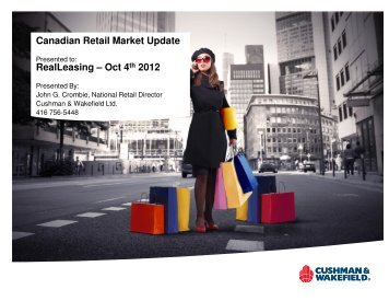 Canadian Retail Market Update RealLeasing – Oct 4th 2012 - Real ...
