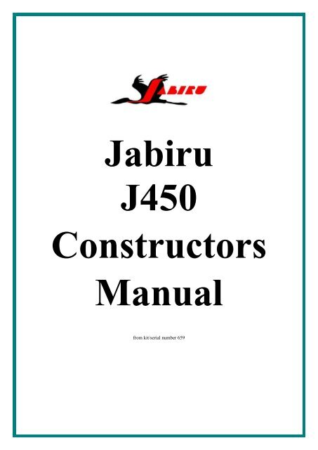 Jabiru J450 Construction Manual