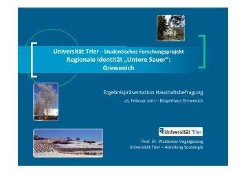 Ergebnispräsentation Grewenich - von Dr. Waldemar Vogelgesang