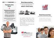 Řešení financování Haas Rychlé řešení pRo nákup strojů Haas ...