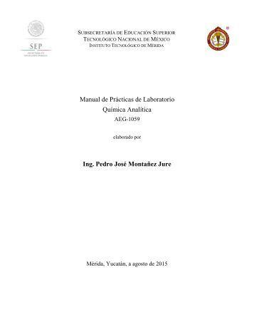 Manual Lab. Quimica Analítica