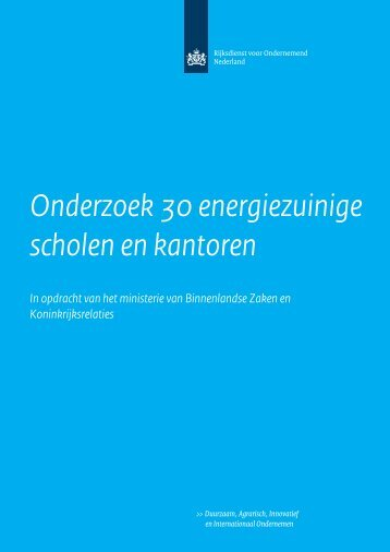 Onderzoek 30 energiezuinige scholen en kantoren