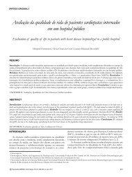 Avaliação da qualidade de vida de pacientes cardiopatas ...
