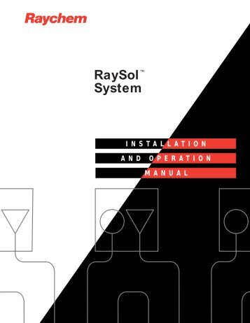 RaySol System Installation and Operation Manual - California ...