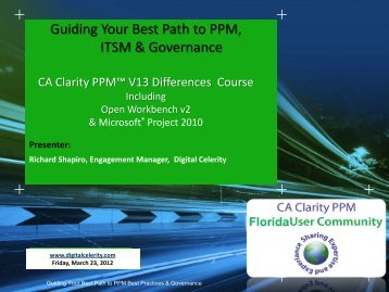 Clarity PPM v13 Presentation - Digital Celerity