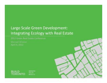 Click to edit Master title style Large Scale Green Development ...