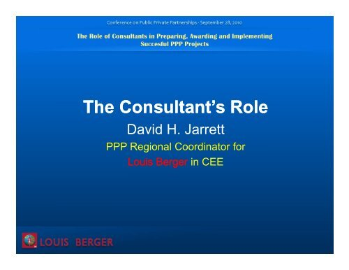 The Consultant's Role