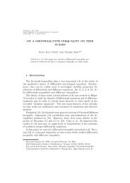 ON A GRONWALL-TYPE INEQUALITY ON TIME SCALES Sung Kyu ...