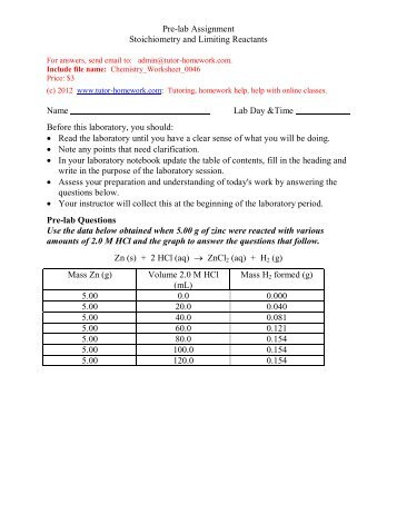 chemistry stoichiometry lab essay example For example, when methane unites chemistry lab report stoichiometry sign up to view the whole essay and download the pdf for anytime access on your computer.