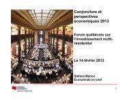 Conjoncture et perspectives économiques 2013 - Real Estate Forums