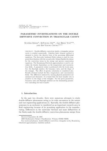 PARAMETRIC INVESTIGATIONS ON THE DOUBLE DIFFUSIVE ...