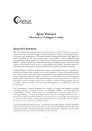Kyoto Protocol - Disclosure of Contingent Liability - Castalia