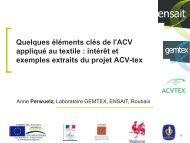 Quelques éléments clés de l'ACV appliqués au textile - avniR