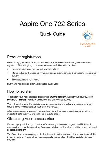 aspire notebook series global download acer rh yumpu com Quick Service Guide Quick Reference Guide Template