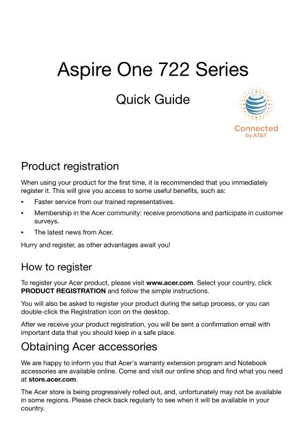 Aspire One 722 Series - Acer Global Download
