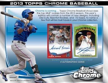 2013 Topps Chrome Baseball Color Sell Sheet - Magazine Exchange