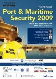 14654 Informa Port & Maritime Sec P09M29 - Informa Australia