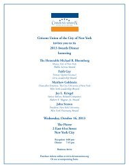 Citizens Union of the City of New York invites you to its 2013 Awards ...
